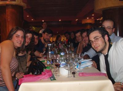 cena de navidad del grupo DaD